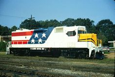 Illinois Central Gulf Bicentennial Diesel Locomotive. One like this came thru Seattle at Interbay train yards. It sat right out in front of where Don was working in the yard office.