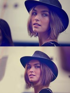 gosh i love her hat and her hair and her face....everything, just everything