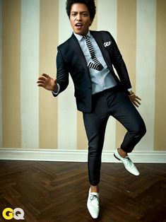 """Bruno Mars in the April 2013 """"Style Bible"""" issue of GQ Magazine."""