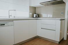 White kitchen   #modern #kitchen #mdfwhite #painted #saramob #image #furnituredesign #modernone Design Furniture, Kitchen Cabinets, Modern, Home Decor, Houses, Trendy Tree, Decoration Home, Room Decor, Cabinets