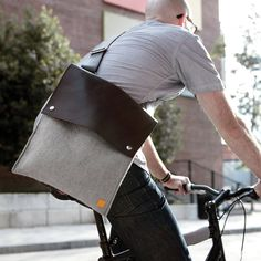 Felt + Leather Crossbody bag