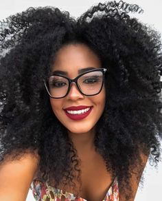 Ladies' White Burnout Racerback Tank Fit Is So Sexy Big Glasses, Girls With Glasses, Beautiful Black Women, White Women, Natural Hair Tips, Natural Hair Styles, Curly Hair Styles, Red Lips Makeup Look, Lunette Style