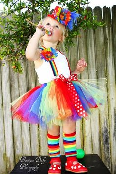 Custom boutique clown carnival tutu costumebirthday by
