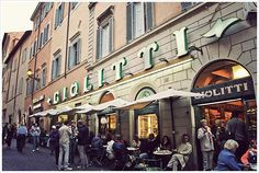 The Giolitti in Rome - Apparently the best place in Italy to get gelato.