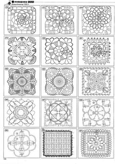 Transcendent Crochet a Solid Granny Square Ideas. Inconceivable Crochet a Solid Granny Square Ideas. Crochet Motif Patterns, Granny Square Crochet Pattern, Crochet Blocks, Crochet Diagram, Crochet Chart, Crochet Squares, Thread Crochet, Crochet Granny, Crochet Designs