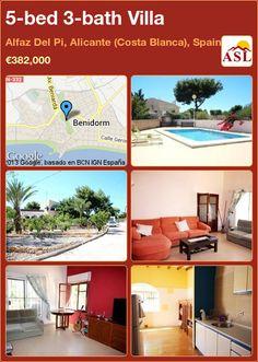 5-bed 3-bath Villa in Alfaz Del Pi, Alicante (Costa Blanca), Spain ►€382,000 #PropertyForSaleInSpain