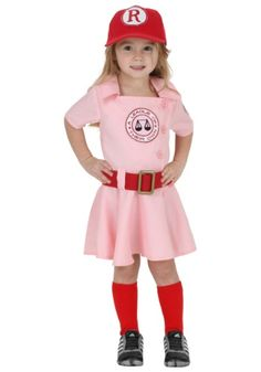 There's no crying in baseball! This Toddler A League of Their Own Dottie Costume brings your little girl the style of Dottie Hinson from the movie.