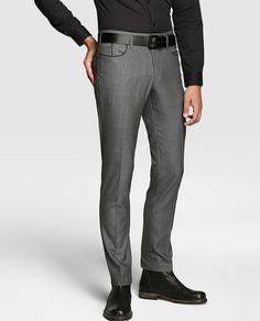Pantalón de hombre de vestir gris