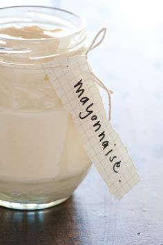 Homemade Mayonnaise Recipe: Ditch the Hydrogenated Oils (But Not the Flavor)--Mayonnaise - recipe courtesy Julia Child Recipe Using Silken Tofu, Eggless Mayonnaise Recipe, Egg Mayonnaise, Healthy Mayonnaise, Homemade Mayonaise, Eggless Recipes, Baking Recipes, Vegetarian Recipes, Easy Recipes