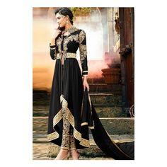 Designer Clothes, Shoes & Bags for Women Bridal Anarkali Suits, Salwar Kameez, Formal Dresses, Stuff To Buy, Color, Shopping, Collection, Black, Design