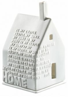 Lyshus til fyrfadslys - Home til en svævehylde sammen med Welcome skilt Clay Houses, Ceramic Houses, Miniature Houses, Ceramic Clay, Ceramic Pottery, Bird Houses, Pottery Houses, Paperclay, Home And Deco