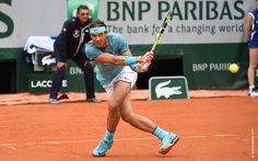 Un pas de deux. Rafa passe à l'attaque. L'Australien Sam Groth ne s'en remettra pas Roland Garros 2016