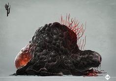 Témoignage des songes - Loïc Muzy - Les Contrées du Rêve - Ulule Concept Art Alien, Creature Concept Art, Creature Design, Monster Co, Monster Design, Call Of Cthulhu, Alien Creatures, Fantasy Creatures, Dark Fantasy