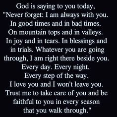 #thankyougod #message #godisalwayswithyou #Inspiration #motivation #godswords #blessing #trailsandtribulations #newday #newnight #newweek #everyseason Prayer Times, Prayer Verses, Bible Verses Quotes, Empowering Words, Love And Forgiveness, Prayer And Fasting, Jesus Christus, My Life Quotes, Godly Relationship