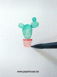 Cactus Watercolor Paintings Specifications Color: 36 30 days no-hassle money-back guarantee. Watercolor Paintings For Beginners, Beginner Painting, Watercolour Tutorials, Painting Videos, Abstract Watercolor Tutorial, Simple Paintings, Watercolor Beginner, Watercolor Video, Monet Paintings