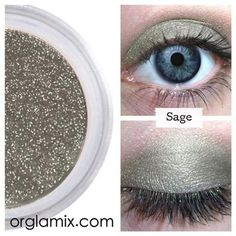 Sage Eyeshadow - Mineral Makeup | Natural Mineral Cosmetics | Vegan + Cruelty Free | ORGLAMIX.COM