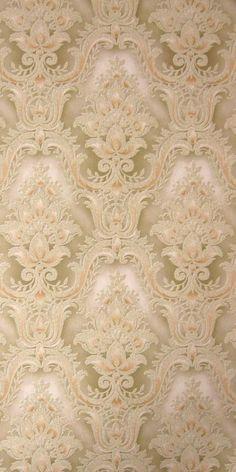 Vintage Wallpaper Wilby per meter Wallpaper Bedroom Vintage, Vintage Wallpaper Patterns, Victorian Wallpaper, Old Wallpaper, Damask Wallpaper, Textured Wallpaper, Pattern Wallpaper, Royal Wallpaper, Charcoal Wallpaper