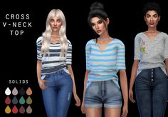 LEO-SIMS • 2 recolors of @elliesimple tops Both need meshes...