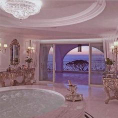 This bathroom is goals :) I want a HUGE bathtub with bubble jets, lots of bath salts, and plenty of wine or champagne.