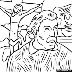 612 Best Famous painting coloring pages images