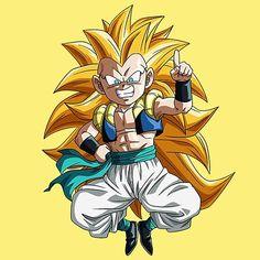 'Dragon Ball Gotenks Chibi' by xiaokoong Canvas Wall Art, Canvas Prints, Art Prints, Wood Print, Akira, Dragon Ball Z, Decorative Throw Pillows, Chibi, Sticker