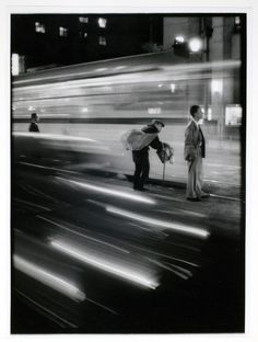 A shot from the master, W. Eugene Smith. #ICPCollections  Headlight Streaks/ Pedestrians, 1961-1962