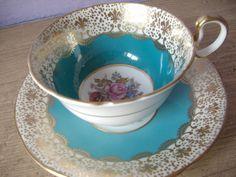 Antique Aynsley JA Bailey tea cup set vintage by ShoponSherman, $139.00