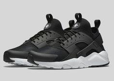 competitive price 45b24 b81a3 URH NIKE noire.et blanc Nike Air Huarache, Huarache Homme, Black Huarache,