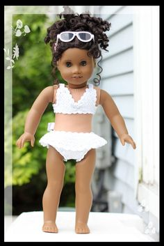 "White Water Bikini - For 18"" Dolls---several other patterns for purchase"