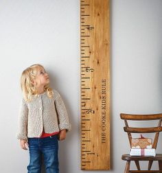 Home Accessories * Childrens Rooms * A cute and decorative way to measure children's growth.
