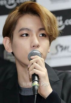 Baekhyun EXO - Press Conference EXO'luxion Concert in Seoul (8 March 2015)