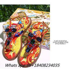 2017 New Luxury String Bead Female Shoes Ankel Strap Crystal Sandals Peep Toe Colorful Rhinestone Flip Flops Sapatos Feminino