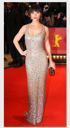 Christina Ricci in sparkly Jenny Packham
