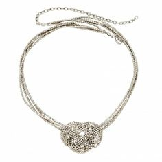 Silver Knot Necklace - Necklaces - Jewelry - Products