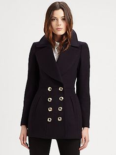 Burberry London Wool/Cashmere Peacoat