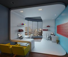 Could You See Yourself Working In One of These Offices? Ultimate Office Space for HP and Microsoft