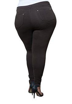 Plus Size Jean Leggings - Trendy Clothes