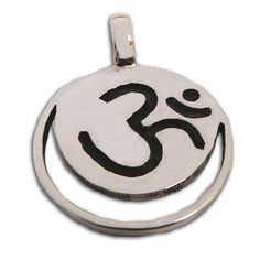 Crown Chakra Pendant with Om  Sterling Silver