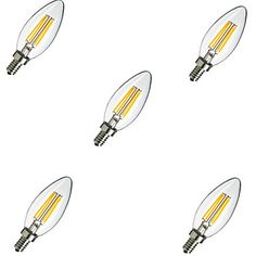 5pcs E14 4W 400lm теплый / холодный белый свет 360 градусов Эдисона нить шарик водить свечки (220v)
