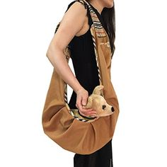 Pineocus Soft Woolen Top Quality Sling Pet Dog Cat Puppy Carrier Bag Coffee >>> Check this awesome product by going to the link at the image. (This is an affiliate link) #CatCarrierStroller