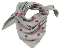 Ginger and Ruby Cashmere Triangle Scarf with Polkdots for little girls.