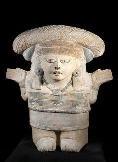 Female-figure rattle, probably Classic period Veracruz/Gulf Coast (archaeological culture) (attributed). AD 200-600