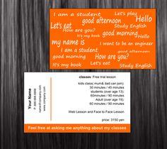 Картинки по запросу english teacher business card