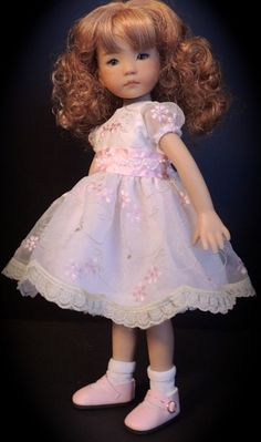 """Embroidered Sheer Organza Dress - fits 13"""" Little Darling by Dianna Effner"""