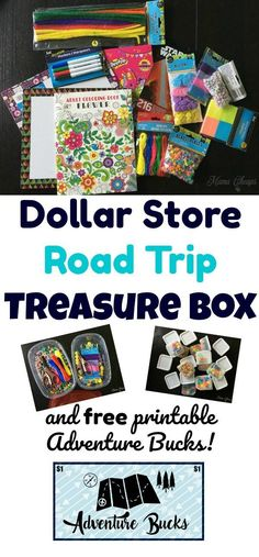 DIY Dollar Store Road Trip Treasure Box - perfect for keeping the kids happy on long car rides!