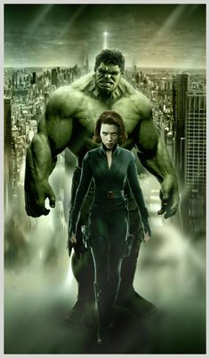 I made two posters actually n this is the one but I just want to make Hulk n Black Widow together..they look so cool. so this is a...pin-up.
