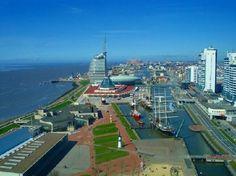 Bremerhaven, Germany: Umgebung Havenwelten 3 km Distanz