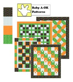 www.quiltintia.com - baby patterns use 4 half yard cuts to make any of the A-OK Baby quilts.