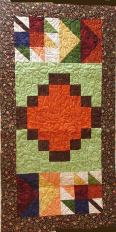Autumn Banner Table Runner quilt Available by PDF Download. #quiltpattern #scrapdash Scrappy Quilt Patterns, Beginner Quilt Patterns, Quilting For Beginners, Scrappy Quilts, Easy Quilts, Mini Quilts, Applique Quilts, Fall Banner, Fat Quarter Quilt