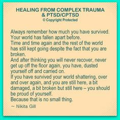 25 Obvious & Non Obvious Self Care Issues – Complex Trauma Survivors Struggle With ~ Lilly Hope Lucario Ptsd Awareness, Mental Health Awareness, Trauma Quotes, Trauma Therapy, Complex Ptsd, Pin On, Stress Disorders, My Demons, Post Traumatic